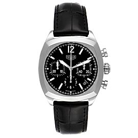 Tag Heuer Monza Black Dial Chronograph Steel Mens Watch CR2110