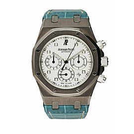 Audemars Piguet 26022BC 18K White Gold Chronograph Men's Watch