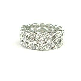 Tiffany & Co Swing Three-Row Diamond Band Size 6.5 1.40Ct