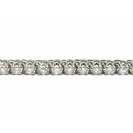 "Fine Round Cut Diamond Tennis Bracelet White Gold 7"" 54-Stones 2.26CT"