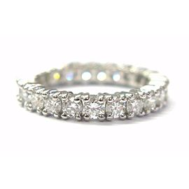 Fine Round Cut Diamond Eternity Band Ring White Gold 2.20CT Size 6.5
