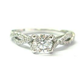 Verragio Round Diamond Engagement Ring 18Kt White Gold 1.04Ct E-SI1