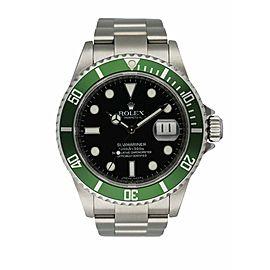 Rolex Submariner Date 16610V Kermit Anniversary Edition Men's Watch Box & Paper