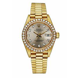 Rolex Datejust 69138 Diamond Dial and Bezel Ladies Watch