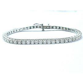 "Round Cut NATURAL Diamond Tennis Bracelet SOLID White Gold 14KT 5.02CT 7"""