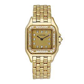 Cartier Panthere 8057915 18K Yellow Gold & Diamonds Set Ladies Watch
