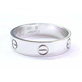 "Cartier Love Platinum Ring ""Leve"" Size 66"