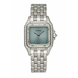 Cartier Panthere 1660 18K White Gold Diamond Anniversary Logo Ladies Watch