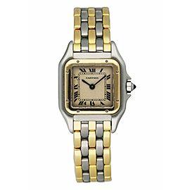 Cartier Panthere Three Row Ladies Watch Box, Paper & Original Receipt