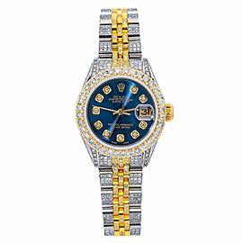 ROLEX DATEJUST 26MM WATCH 6917 TWO TONE JUBILEE BRACELET WITH DIAMONDS