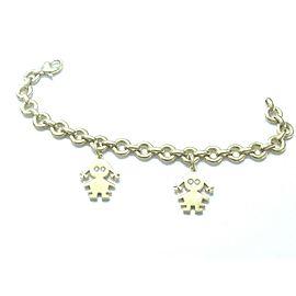 Schrieber 18Kt Lily & Chloe Diamond Yellow Gold Charm Bracelet .12Ct