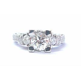 18Kt Old European Cut NATURAL Diamond Engagement Jewelry Milgrain Ring 1.75Ct