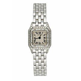Cartier Panthere Mini 2363 18K White Gold & Diamond Set Ladies Watch