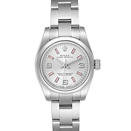 Rolex Oyster Perpetual Pink Luminous Markers Ladies Watch 176200