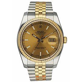 Rolex Datejust 116233 18K Yellow Gold & stainless steel Men's Watch
