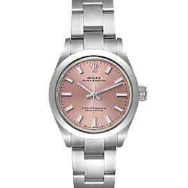 Rolex Oyster Perpetual Pink Dial Steel Ladies Watch 276200
