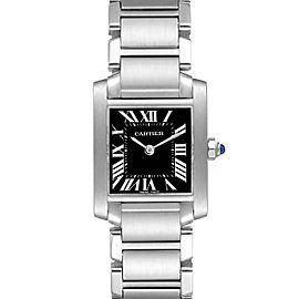 Cartier Tank Francaise Black Dial Steel Ladies Watch W51026Q3
