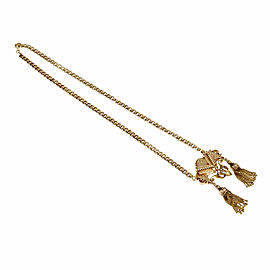 14K Rose Gold Double Tassel Vintage Pendant Pin