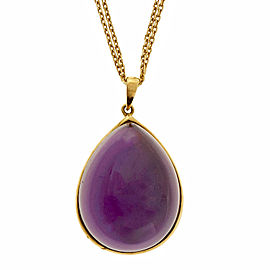 18k Yellow Gold Diamond By The Yard Necklace Amethyst Mother Of Pearl