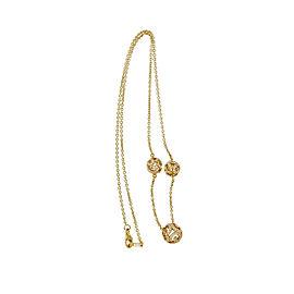 JMP 18K Rose Gold with Quartz Crystal Beads & 0.90ct Diamond Necklace