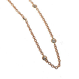 14k Rose Gold Diamond By The Yard 2.00ct Pink Brown Diamond Necklace