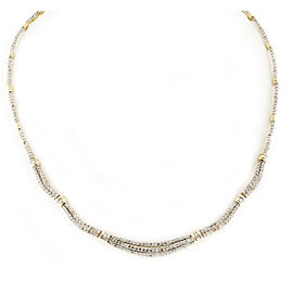 14K White & Yellow Gold with 3.55ct Diamond Necklace