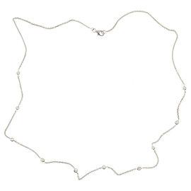 Vintage 14k White Gold 2.15ctw Diamond Womens Necklace