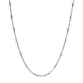 14K White Gold with 2.62ct Diamond By The Yard Necklace