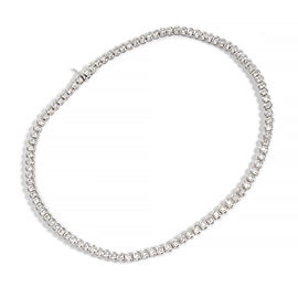 Platinum with 12.03ct Diamond Necklace