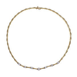 14K Yellow Gold with 1.00ct Diamond Necklace