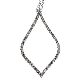 14K White Gold with 0.55ct Diamond Pendant Necklace