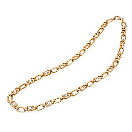 18K Yellow Gold with 1.70ct Diamond Chain Necklace