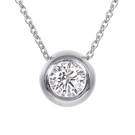 Peter Suchy Platinum with 1.05ct Round Cut Diamond Vintage Pendant Necklace