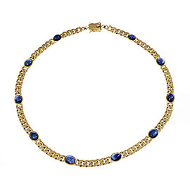 18K Yellow Gold with 15.50ct Sapphire Necklace