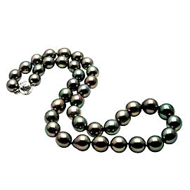 Mikimoto 18K White Gold & Tahitian Black South Sea Pearl Necklace