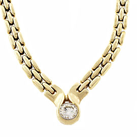 14K Yellow Gold with 1.03ct Diamond Necklace