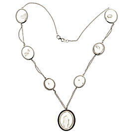 18K White Gold 85.00ct Manifestor Quartz Crystal Vintage Necklace