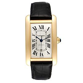 Cartier Tank Americaine Yellow Gold Automatic Mens Watch W2609756