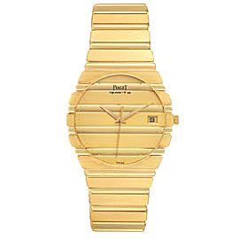 Piaget Polo 18K Yellow Gold Champagne Dial Mens Watch 15561