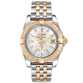 Breitling Galactic 36 Stainless Steel Rose Gold MOP Dial Watch C37330 Unworn