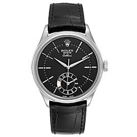 Rolex Cellini Dual Time White Gold Automatic Mens Watch 50529 Unworn