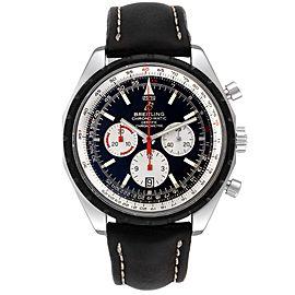 Breitling Navitimer Chronomatic Black Dial Black Stap Mens Watch A14360