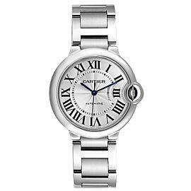 Cartier Ballon Bleu Midsize 36 Silver Dial Steel Ladies Watch W6920046