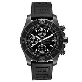 Breitling SuperOcean II Black Dial PVD Steel Mens Watch M13341