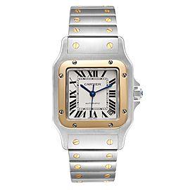 Cartier Santos Galbee XL Steel Yellow Gold Mens Watch