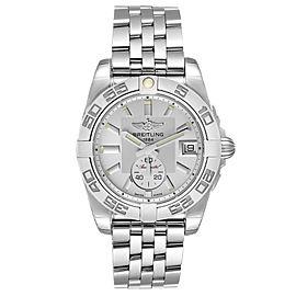 Breitling Galactic 36 Silver Dial Steel Ladies Watch A37330 Unworn