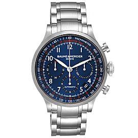 Baume Mercier Capeland Blue Dial Chronograph Steel Mens Watch 10066