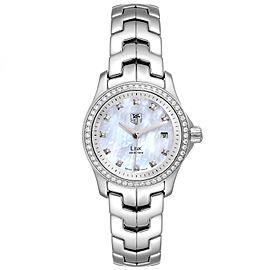 TAG Heuer Link MOP Diamond Dial Bezel Steel Ladies Watch WJF1319
