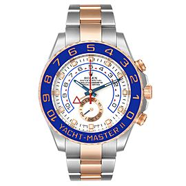 Rolex Yachtmaster II Rolesor EveRose Gold Steel Mens Watch 116681 Box Card