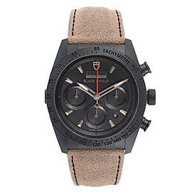 Tag Heuer Fastrider Black Shield Alcantara Strap Mens Watch 42000CN